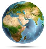 Planet Earth on white. 3d rendering Stock Images