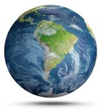 Planet Earth on white. 3d rendering Royalty Free Stock Photos