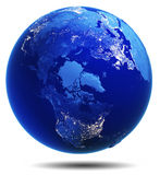 Planet Earth white isolated Stock Photos