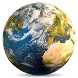 Planet Earth world. Elements of this image furnished by NASA. 3d rendering royalty free stock image