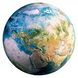 Planet Earth world. Elements of this image furnished by NASA. 3d rendering royalty free stock photo