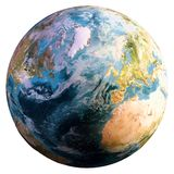 Planet Earth world. Elements of this image furnished by NASA. 3d rendering vector illustration