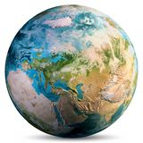 Planet Earth world. Elements of this image furnished by NASA. 3d rendering royalty free illustration