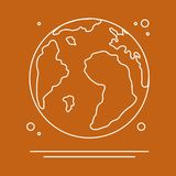 Planet Earth. World vector icon. Earth Day. Planet Earth vector illustration. World vector icon. Earth Day. Design for astronomy apps, websites, print royalty free illustration
