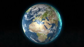 Planet Earth zoom out from Jerusalem, Temple mountain, Israel to outer space. stock footage