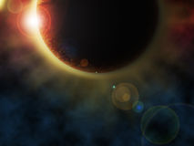 Planet with Eclipse stock photo