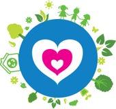 Planet Ecology icon Stock Photo