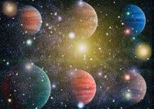 Planet - Elemente dieses Bildes geliefert von der NASA Stockfoto