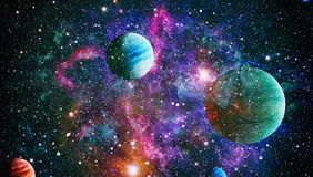 Planet - Elements of this Image Furnished by NASA. Stars and galaxies in outer space showing the beauty of space exploration. Elements furnished by NASA stock images