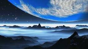 Planet Erde ähnlich, über der ausländischen Landschaft stock footage