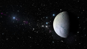 Planet Esceladus in outer space. Elements of this image furnished by NASA Stock Photography