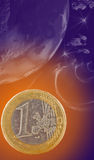 Planet euro Royalty Free Stock Photo