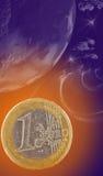 Planet euro Royalty Free Stock Photo