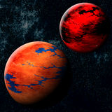 Planet Evolution. Short Sequence of the Evolution of an Imaginary Planet Stock Images