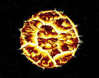Planet  Explosion Royalty Free Stock Image