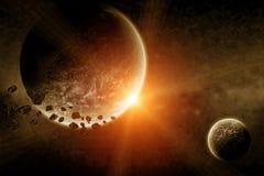 Planet explosion apocalypse Stock Photos