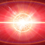 Planet explosion apocalypse Royalty Free Stock Photo