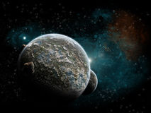 Planet explosion - Universe exploration Stock Photography