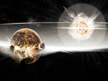 Planet explosion - Universe exploration Stock Photos