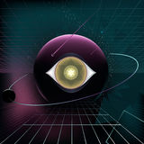 Planet eye retro background Stock Photography