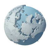 Planet för vinter 3D Stock Illustrationer