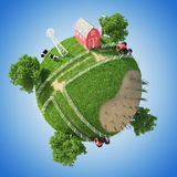 Planet Farm Royalty Free Stock Photo