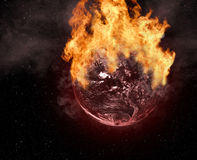 Planet on fire Royalty Free Stock Photo