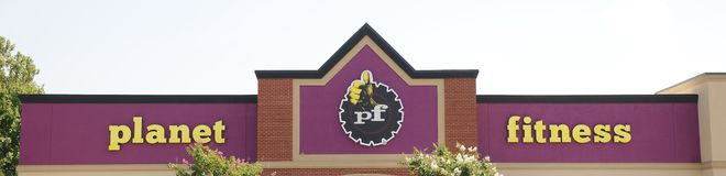 Planet Fitness Gym Sign, Memphis TN. Royalty Free Stock Image