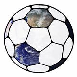 Planet football. View the world as a soccer ball Stock Images