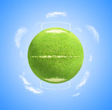 Planet football stock image