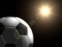 Planet football. Soccer ball in space like planet Royalty Free Stock Image