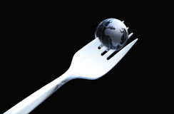 Planet On The Fork Royalty Free Stock Images