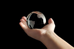 Planet of fragile glass stock images