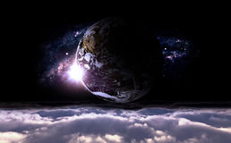 Planet and galaxy Stock Photography