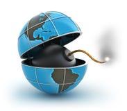 Planet at global danger vector illustration