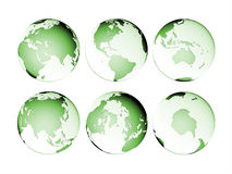 Planet Globe Earth map isolated Royalty Free Stock Photography