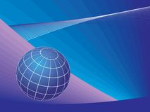 Planet globe over lines background Royalty Free Stock Images