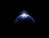 Planet Glow. Space Background for your needs Royalty Free Stock Images