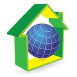 Planet green home Royalty Free Stock Image