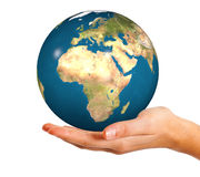 Planet in the hand Royalty Free Stock Photo