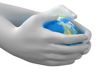 Planet in the hands Royalty Free Stock Photo