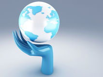 Planet in the hands Royalty Free Stock Images