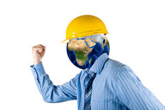 Planet head Royalty Free Stock Photography