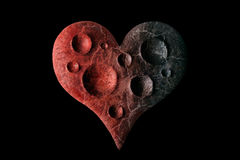 Planet Heart. Heart as a lifeless planet Stock Images