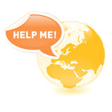 Planet help Stock Photography