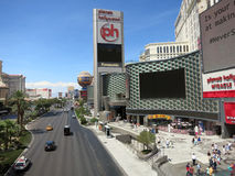 Planet Hollywood Hotel Miracle Mile and Paris hotel Royalty Free Stock Photos