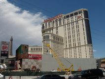 Planet Hollywood-Hotel- und -kasinorekonstruktion im Jahre 2009, Las Vegas Stockfotografie