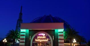 Planet Hollywood na niebieskiego nieba backround przy Jeziornym Buena Vista fotografia royalty free
