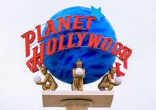 Planet Hollywood Sign and Logo Royalty Free Stock Image
