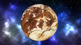 Planet i yttre rymdbakgrund arkivfoto